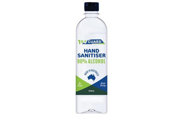 1st Guard Hand Sanitiser 80% Alcohol 575mL Sparesbox - Image 1