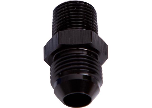 """Aeroflow AF816-20-16BLK Male Flare -20an To 1"""" Npt Black Adapter Sparesbox - Image 1"""