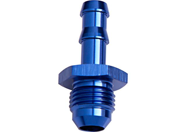 """Aeroflow AF817-08 1/2"""" Barb To -8an Adapter Blue Male Sparesbox - Image 1"""