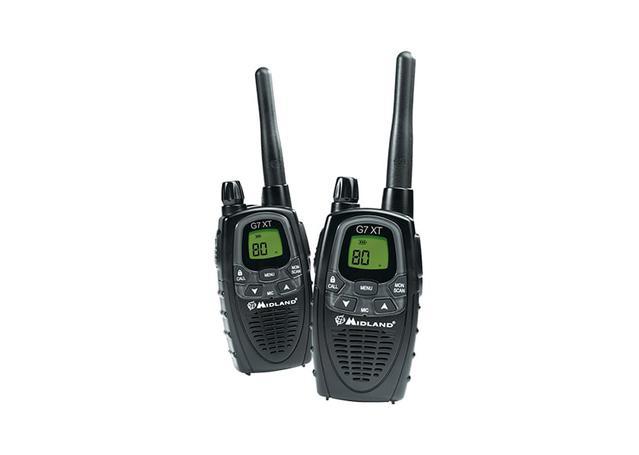 Midland Handheld UHF CB Radio 3W 80CH Twin Pack G7XT Sparesbox - Image 1
